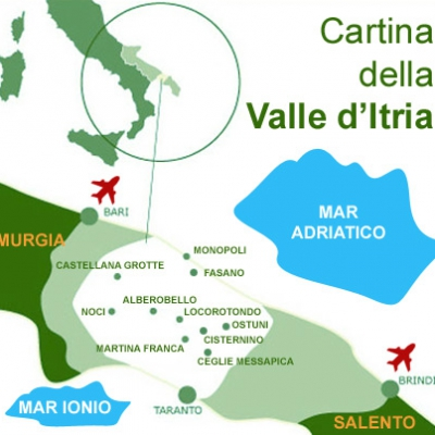 Cartina Valle d'Itria